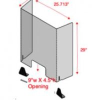26 inch AngledFinancial Transfer Shield - Copy